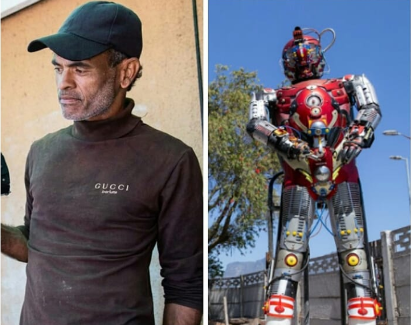 Meet The SA Robot Man – Bridgetown man makes robots from scrap