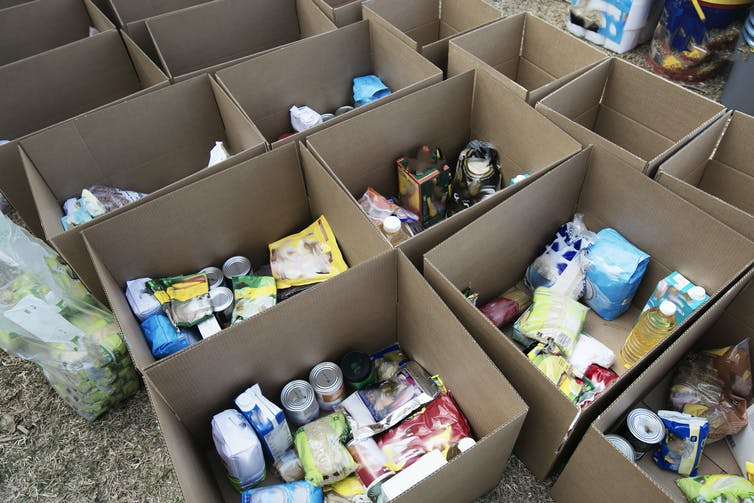 Food aid parcels in South Africa could do with a better nutritional balance